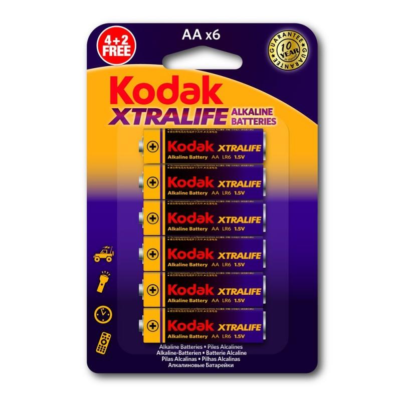 Kodak Xtralife Alkaline Aa6 Battery 1card